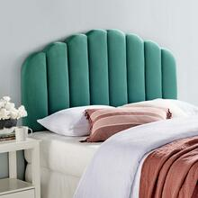 Veronique Full/Queen Performance Velvet Headboard in Teal