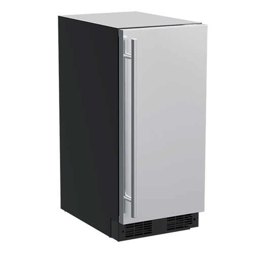 Marvel - 15-In Built-In Crescent Ice Machine with Door Style - Stainless Steel