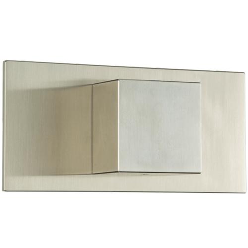 "Volume Control 1/2"" Trim Kit, SQU + Letterbox Brushed Nickel"