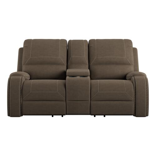 Emerald Home Furnishings - Reclining Glider Console Loveseat