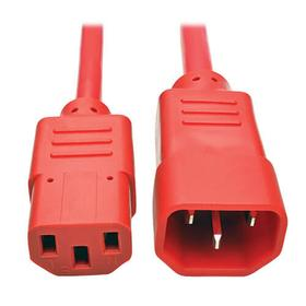 PDU Power Cord, C13 to C14 - 10A, 250V, 18 AWG, 3 ft., Red