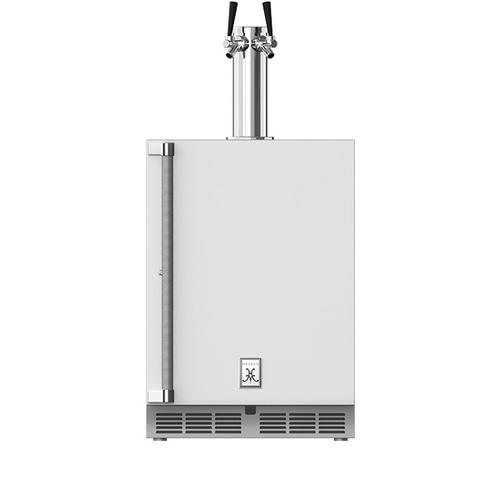 """Hestan - 24"""" Hestan Undercounter Double Faucet Beer Dispenser - GFDS Series - Froth"""