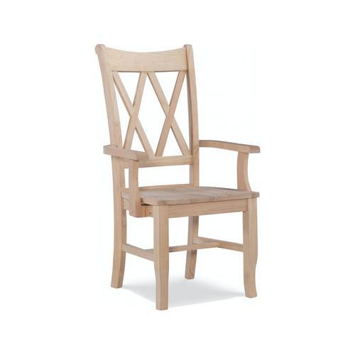 John Thomas Furniture - Double X Back Arm Chair