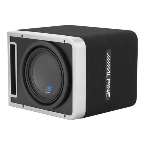 "Single 10"" Alpine Halo S-Series Preloaded Subwoofer Enclosure with ProLink"