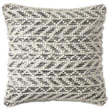 Retired Herringbone Berber Pillow, BLACK, 18X18