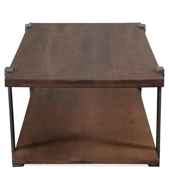 Riverside - Rectangular Coffee Table - Patina Wood/black Metal Finish