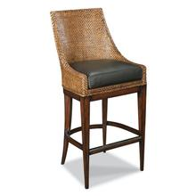 See Details - Woven Leather Counter Stool