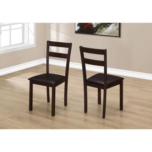 "DINING CHAIR - 2PCS / 35""H ESPRESSO / DARK BROWN SEAT"