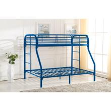 7537 BLUE Metal Bunk Bed