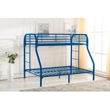 See Details - 7537 BLUE Metal Bunk Bed