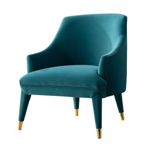 Divani Casa Jenner - Modern Aqua Velvet Accent Chair