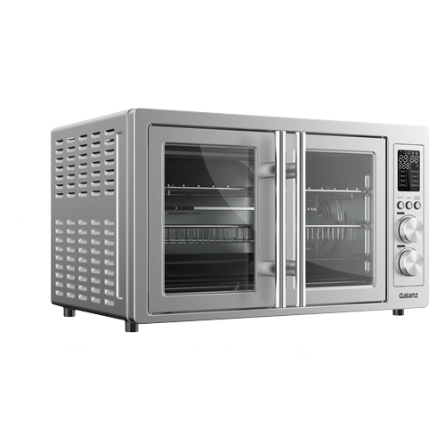 Product Image - Galanz 1.5 Cu. Ft. French Door Digital Toaster Oven with Air Fry in Stainless Steel