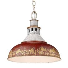 Kinsley Large Pendant,Antique Red