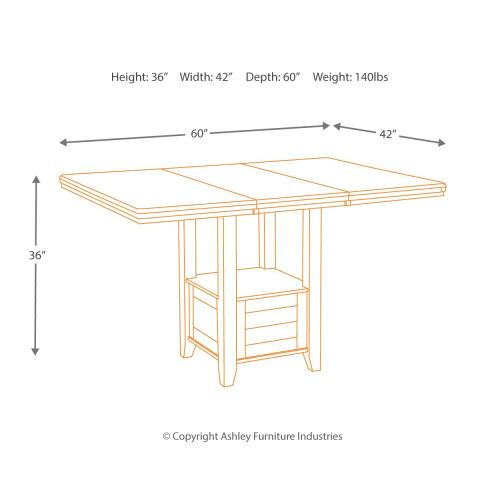 Haddigan Counter Height Dining Extension Table
