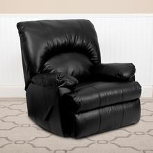 Contemporary Apache Black LeatherSoft Rocker Recliner