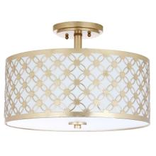 Hutch 3 Light 16-inch Dia Gold Flush Mount - Gold