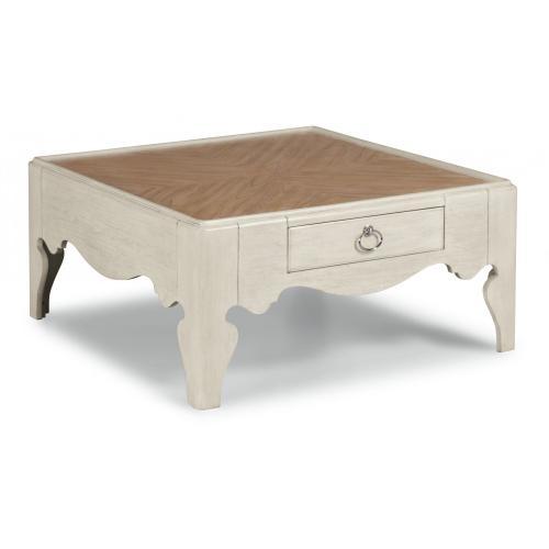 Miramar Square Scroll-Leg Coffee Table