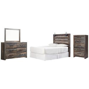 Ashley - Queen Panel Headboard With Mirrored Dresser and Chest