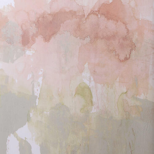 Dusty Blush & Olive Framed Prints, S/2