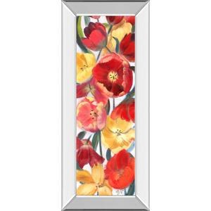 """Tulip Array Panel Il"" By Sandra Iafrate Mirror Framed Print Wall Art"