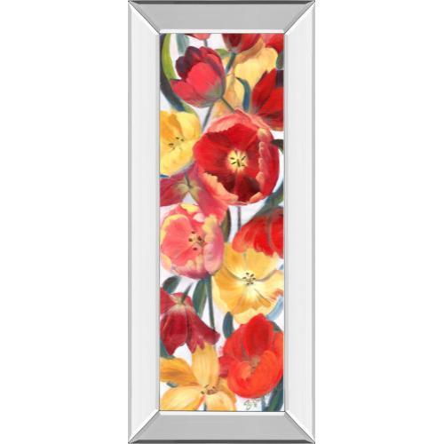 "Classy Art - ""Tulip Array Panel Il"" By Sandra Iafrate Mirror Framed Print Wall Art"