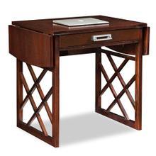 See Details - Chocolate Oak Drop Leaf Computer/Writing Desk #81420