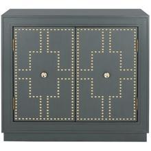 See Details - Azuli 2 Door Chest - Steel Teal / Gold
