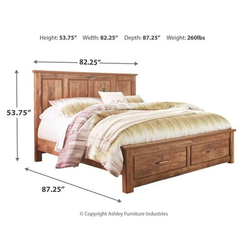 Blaneville King Panel Bed With 2 Storage Drawers