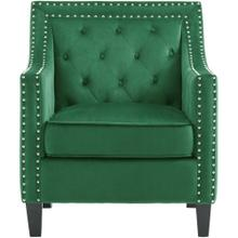 See Details - Hanover Willa Button Tufted Accent Chair in Emerald Green, HUP304-GRN