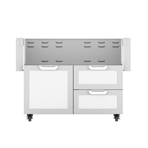 """42"""" Hestan Outdoor Tower Cart with Door/Drawer Combo - GCR Series - Froth"""