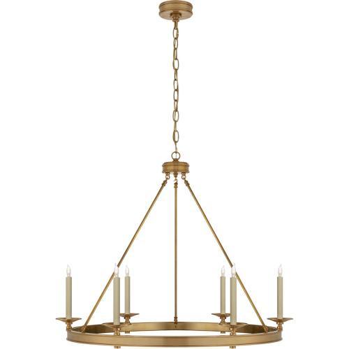 Visual Comfort CHC1601AB E. F. Chapman Launceton 6 Light 36 inch Antique-Burnished Brass Chandelier Ceiling Light