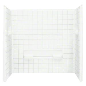 """Advantage™ 60, Series 6204, 35-1/4"""" x 60"""" Tile Seated Shower - Wall Set - White Product Image"""