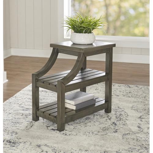 2 Open Shelves Side Table, Grey