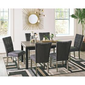 Dontally Dining Table and 6 Chairs Two-tone