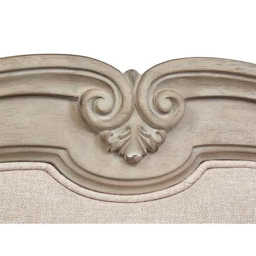 Magnussen Home - Complete Queen Shaped Bed w/Upholstered Headboard