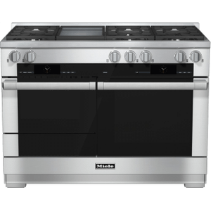 MieleHR 1956-2 LP - 48 inch range Dual Fuel with M Touch controls, Moisture Plus and M Pro dual stacked burners