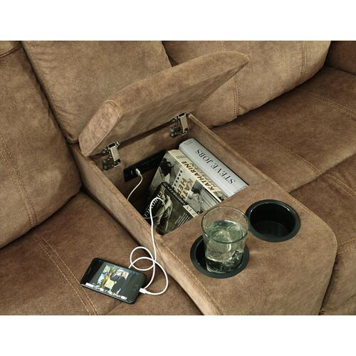 Huddle-up Glider Reclining Loveseat With Console