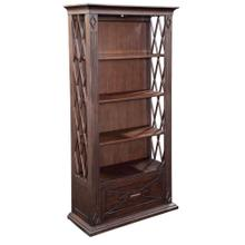 Diamond Bookcase with One Drawer by Ultimate Accents