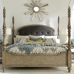 Corinne - Queen Poster Footboard - Sun-drenched Acacia Finish