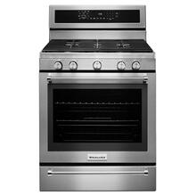 DISCONTINUED MODEL 30-Inch 5 Burner Gas Convection Range with Warming Drawer - Stainless Steel