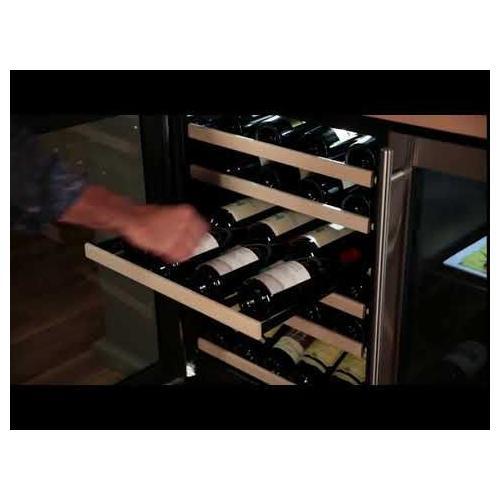 Marvel - 24-In Built-In High Efficiency Single Zone Wine Refrigerator with Door Style - Stainless Steel Frame Glass, Door Swing - Left