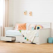 Summer Breeze - Daybed with Storage, White Wash, Twin