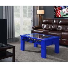 Hanover Foosball Coffee Table in Blue, HGFB02-BLU