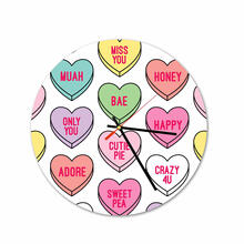 Cutie Pie Round Acrylic Wall Clock