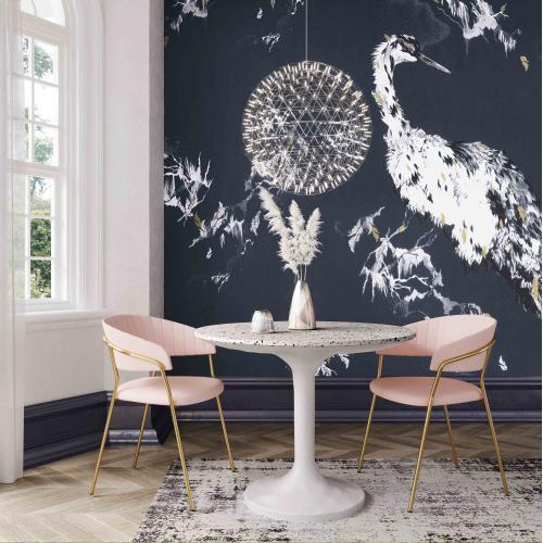 Tov Furniture - Olivia Terrazzo and Concrete Table