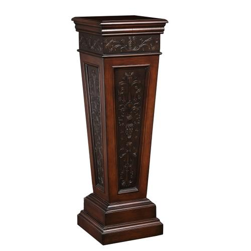 Faux Metal Inlay Accent Pedestal