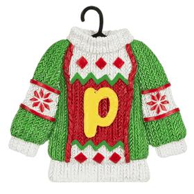 Sweater Ornament - P