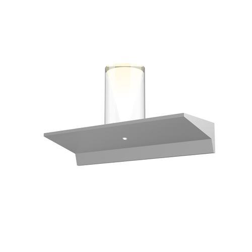 "Sonneman - A Way of Light - Votives LED Wall Bar [Size=1', Color/Finish=Bright Satin Aluminum, Shade Size=4.5"" height x 2.75"" diameter]"