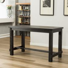 Lotusville Antique Black Finish Rectangular Wood Counter Height Dining Table