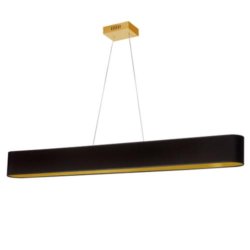 Product Image - 30w Horiz Pendant, Blk/gld Shade, Agb